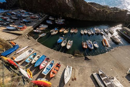 Spoed Foto op Canvas Poort Port in Liguria - Framura - La Spezia Italy