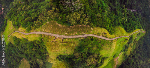 Fotomural Aerial picture of Campuhan Ridge Walk , Scenic Green Valley in Ubud Bali