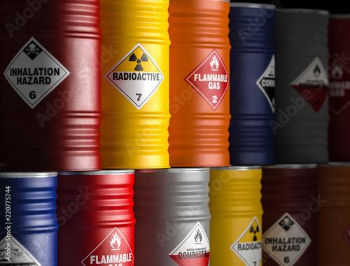 Stampa su Tela radioactive yellow barrel