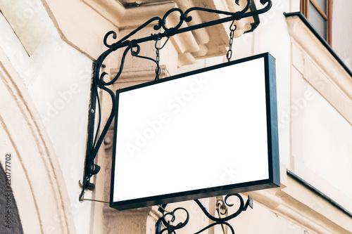 Fotografía  Empty square white poster