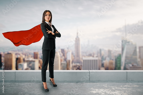 Superhero and solution concept Canvas Print