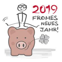 2019 Frohes Neues Jahr Klee Un...