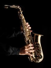 Musician Playing Alt Saxophon...