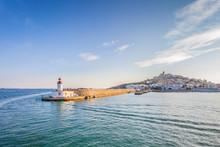 View Of Ibiza Lighthouse From Sea, Ibiza, Balearic Island