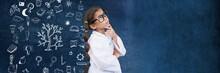 School Girl Scientist And Educ...