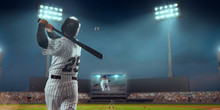 Baseball Player Bat The Ball O...