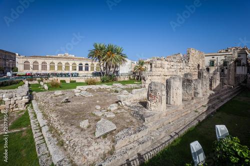 Poster Maroc Ruins of Temple od Apollo in Syracuse (Siracusa) Sicily