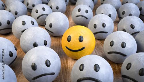 Fotografía 3D Illustration Glücklich und positiv sich abheben