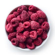 Bowl Of Freeze Dried Raspberries