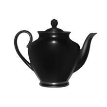 Ceramic Teapot In The Vector.