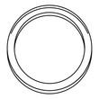 Hormonal ring icon. Outline illustration of hormonal ring vector icon for web design isolated on white background