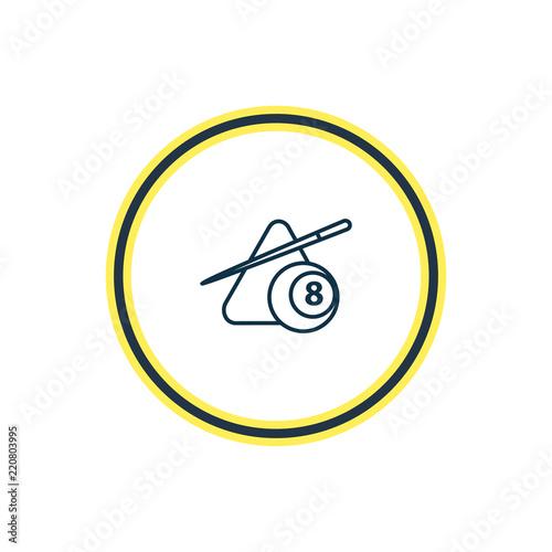 Fotografia  Vector illustration of billiard icon line