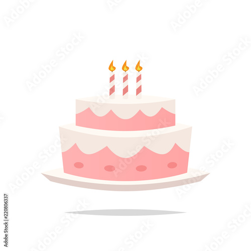 Marvelous Birthday Cake Cartoon Vector Buy This Stock Vector And Explore Funny Birthday Cards Online Alyptdamsfinfo