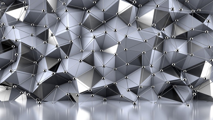 Crystal structure background. 3d illustration, 3d rendering.