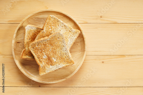 фотография whole wheat toasted bread