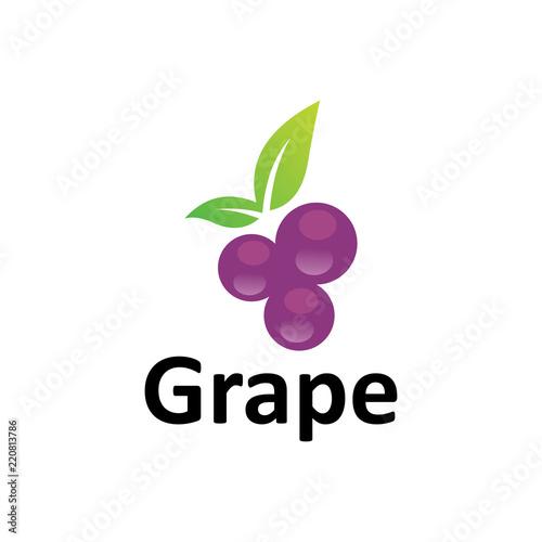 grape logo template Fototapeta