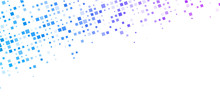White Background With Colorful Squares Pattern.