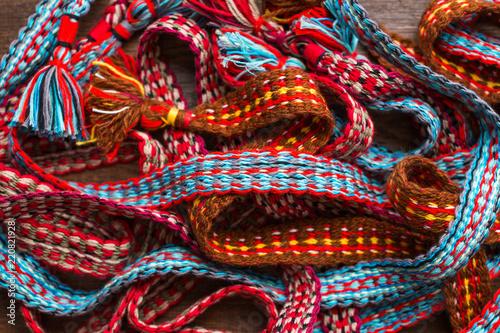 Fényképezés  Colored wicker belt, boho style, macrame, handmade