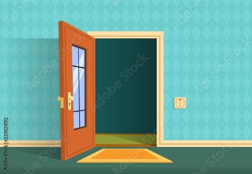 Fotografía  Cartoon open door