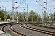 Estaciones de ferrocarril, vías y cables, Puertollano, España