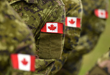 Canada Patch Flags On Soldiers...