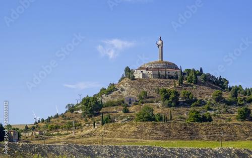 panoramic of Cristo del otero in the city of Palencia