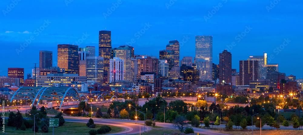 Fototapeta Panorama downtown Denver