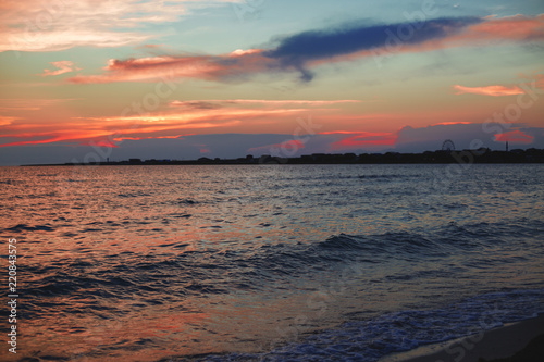 sea landscape at sunset