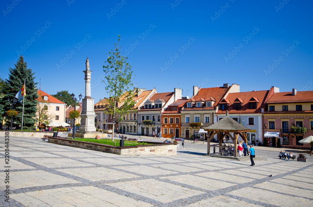 Fototapety, obrazy: Town square of Sandomierz, Poland