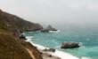 Rocky Fog Shrouded Calfornia Coastline