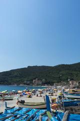 Fototapeta na wymiar Noli, Liguria - Italy. The beach. June 2018