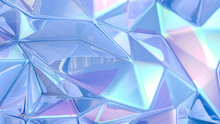 Blue Crystal Background..3d Illustration, 3d Rendering.