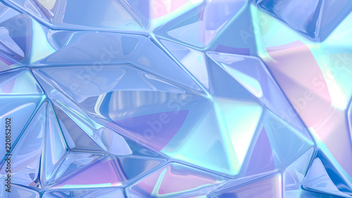Blue crystal background..3d illustration, 3d rendering. - 220852502