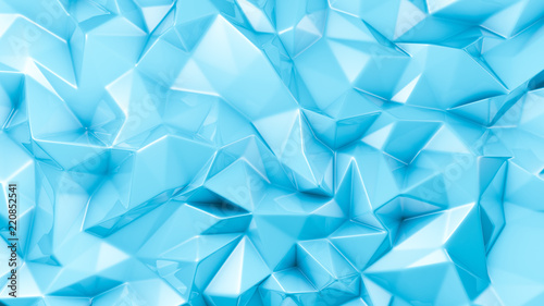 Fotografie, Obraz  Blue crystal background..3d illustration, 3d rendering.