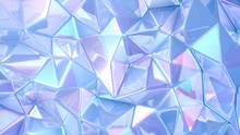 Blue Crystal Background..3d Il...
