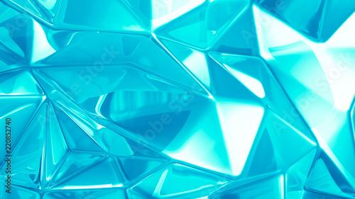 Fototapety, obrazy: Beautiful azure crystal background. 3d illustration, 3d rendering.