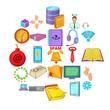 Workshop icons set. Cartoon set of 25 workshop vector icons for web isolated on white background