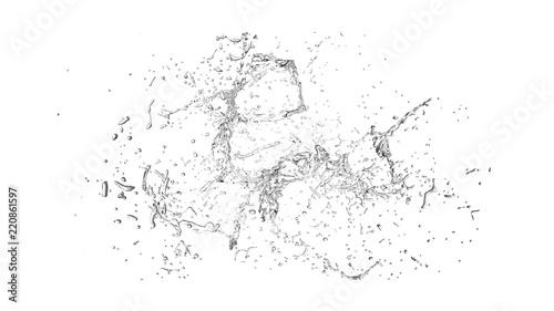 Fotografia Isolated transparent splash of water splashing on a white background
