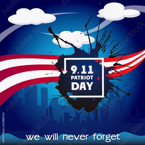 Fotografia  Usa patriot day concept background
