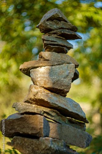 Fotografie, Obraz  Stack Peace Stones