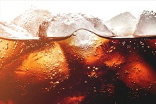 Ice Cubes In Cola Beverage, Cl...