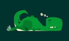 Cute Sleeping Dinosaur. Dino R...