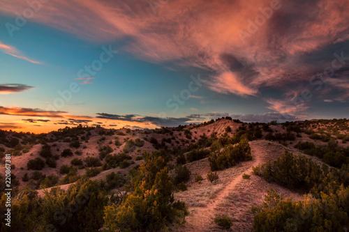Fototapeta premium Zachód słońca w Santa Fe