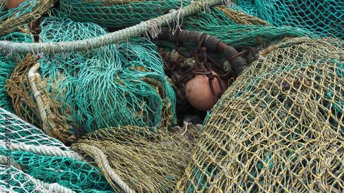 Ausgemusterte Fischernetze