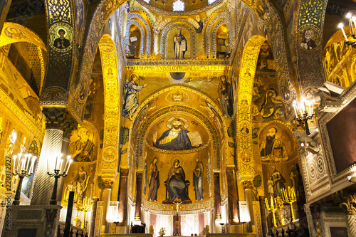 Foto op Aluminium Palermo Interior of The Palatine Chapel