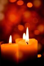 Candles Light. Christmas Candl...