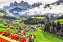 Italy, Dolomite Mountains. Fas...