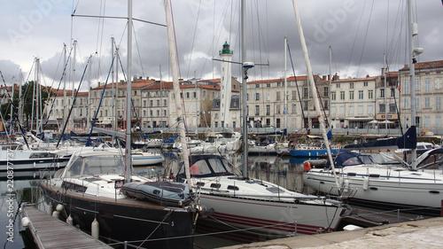 Plakat La Rochelle, Francja, jachty w starym porcie, Vieux Port