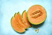 Raw Organic Tuscan Melon Canta...