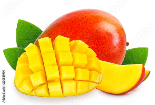Fresh mango on white background